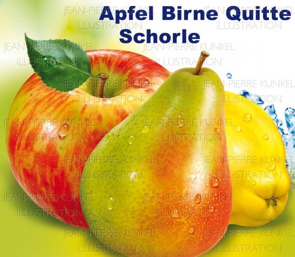 Apfel-Birne-Quitte