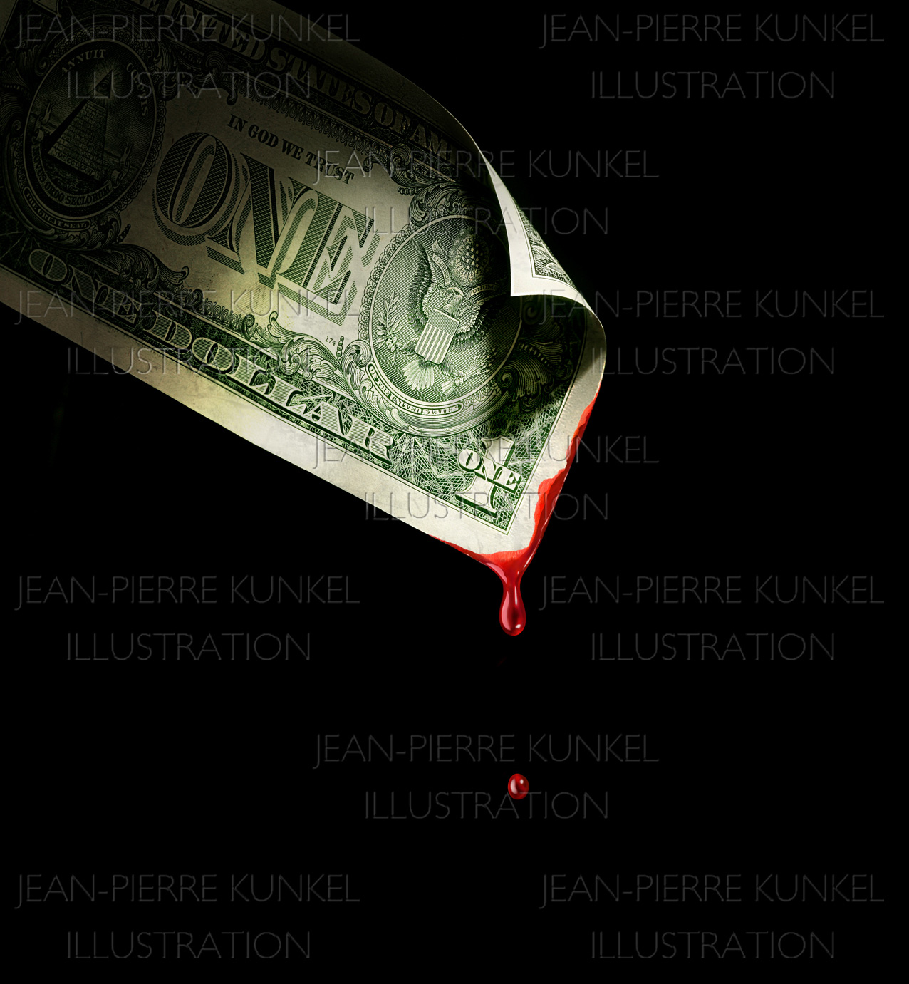 Fotoillustration Dollarnote