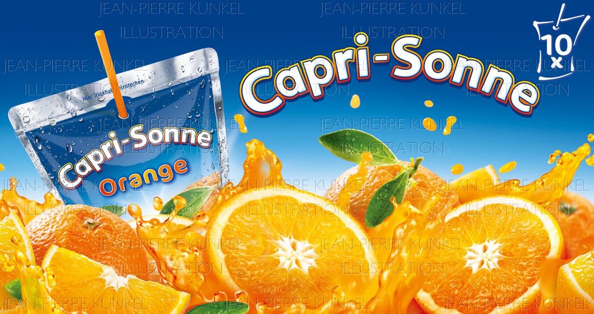 Orangensplash