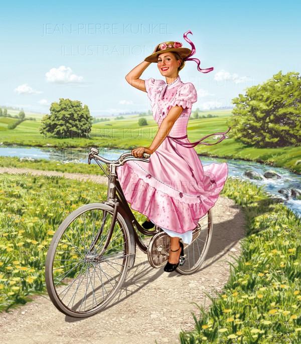 Mädchen auf Fahrrad