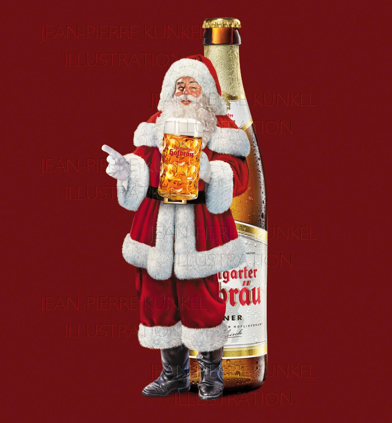 Bier-Weihnachtsmann
