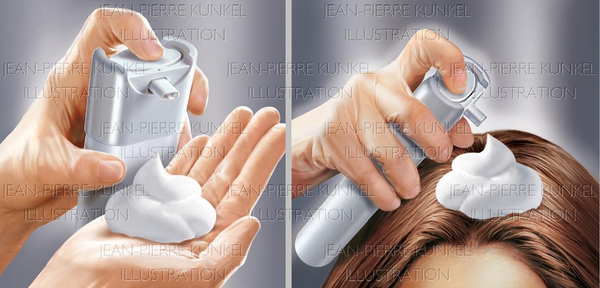 Anwendung Haarschaum