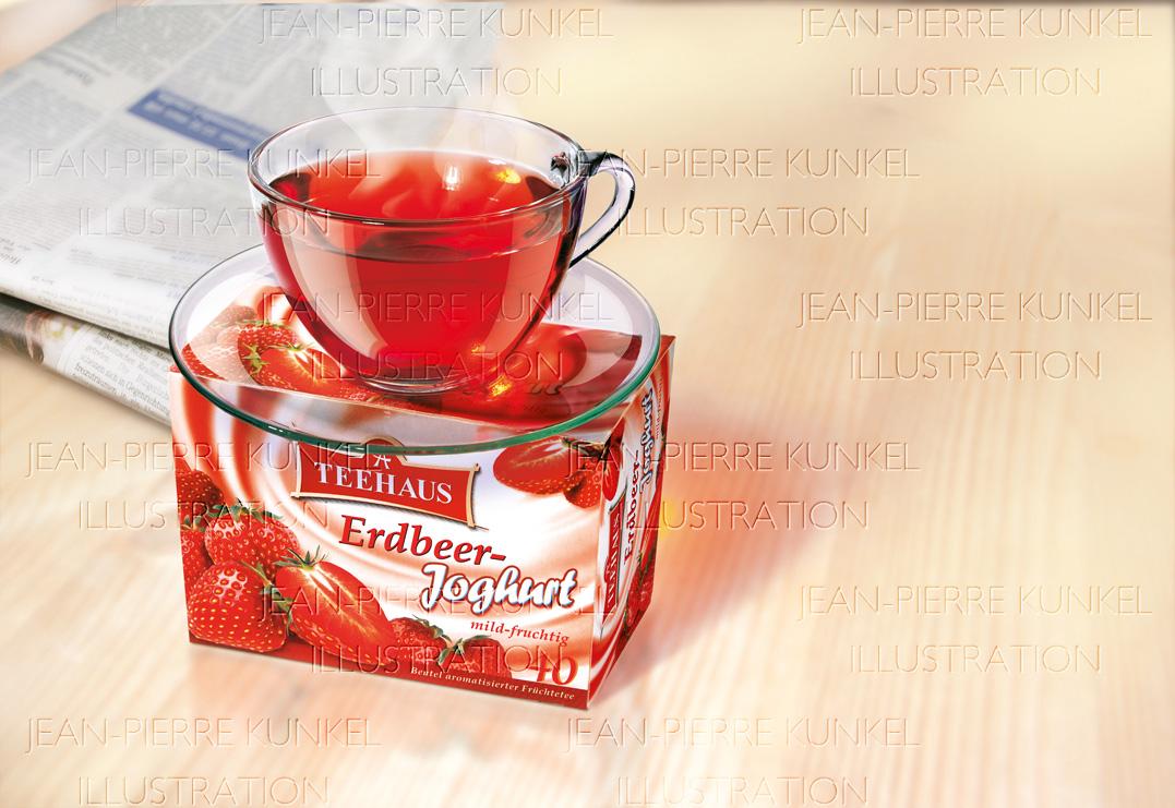 Erdbeer-Joghurt-Tee