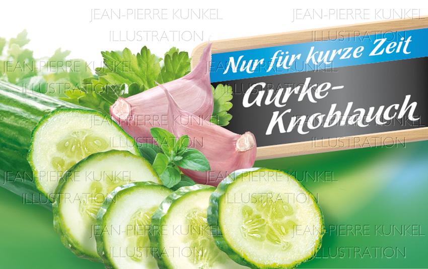 Gurke-Knoblauch