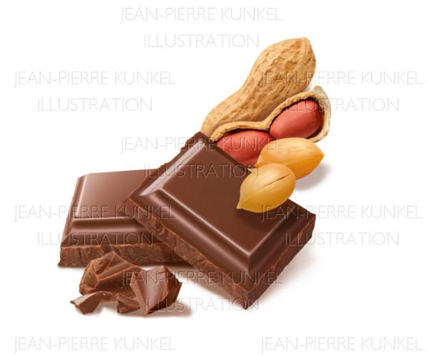 Schokolade mit Erdnüssen