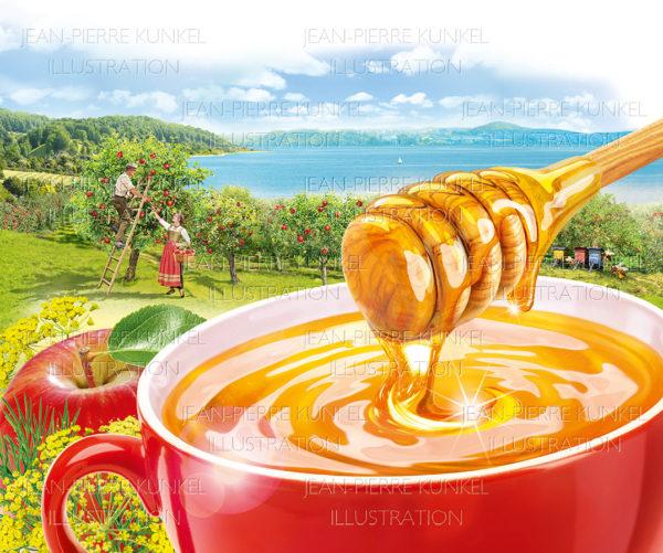 Seelandschaft + Honig