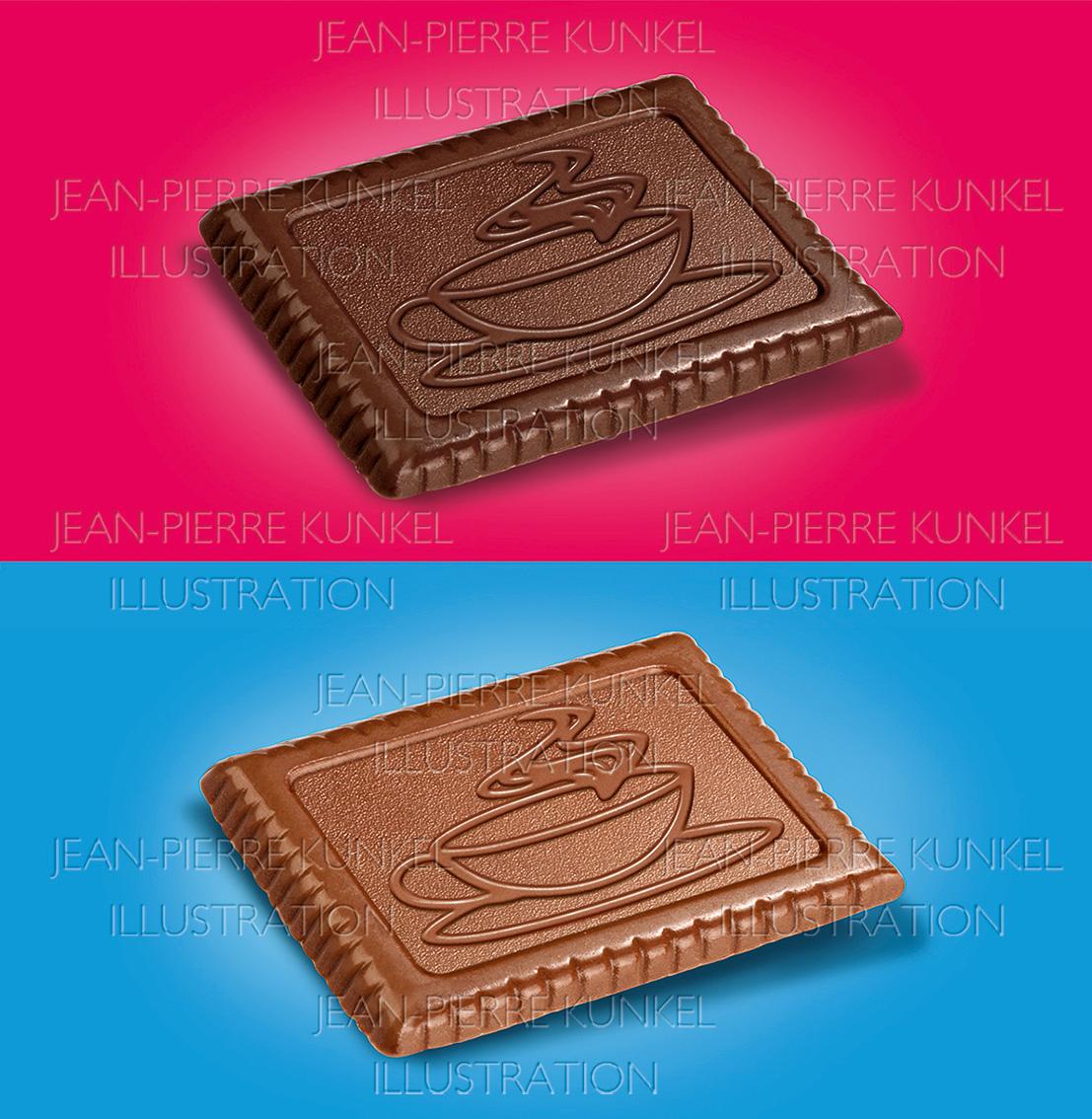 Zwei Schokoladenkekse
