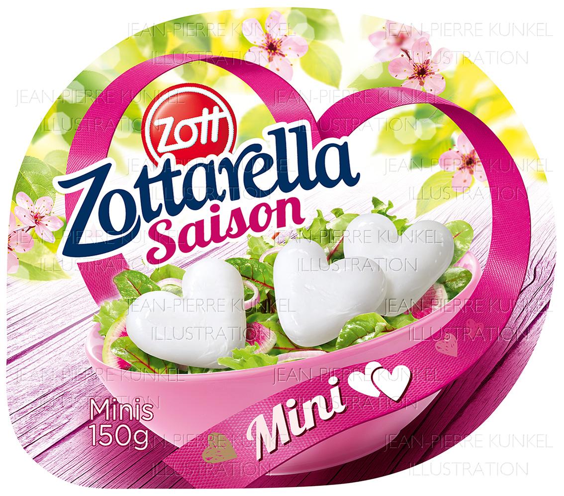Mozzarella-Herzen